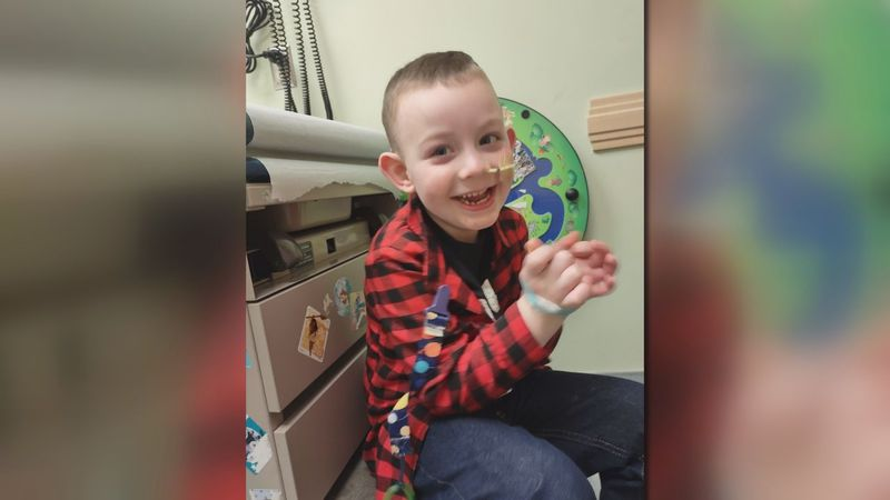 Abel Helson, 4, battles cancer.