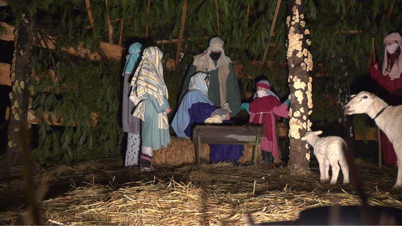 Davidson Baptist Church drive-thru nativity