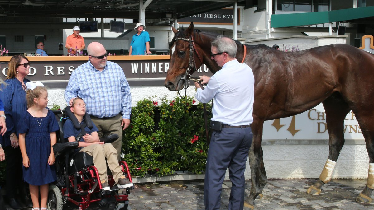 It was the first ever victory for a racehorse named after a Louisville teen who met and bonded...