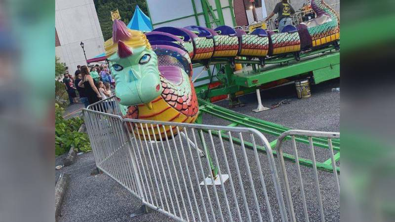 Multiple children were injured when this Gambill Amusements ride crashed at the Logan Freedom...