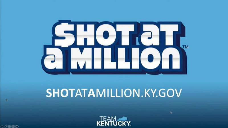To encourage people to get vaccinated, Governor Beshear announced the 'Shot at a Million'...