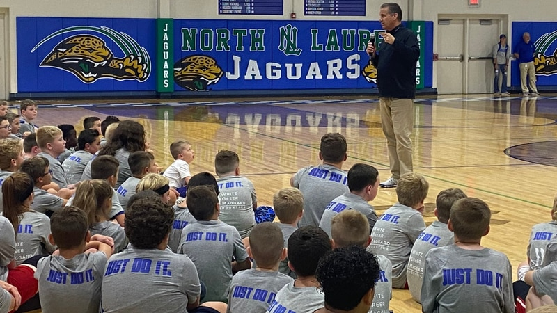 UK Coach John Calipari visited Laurel County on Wednesday for a satellite camp at North Laurel...