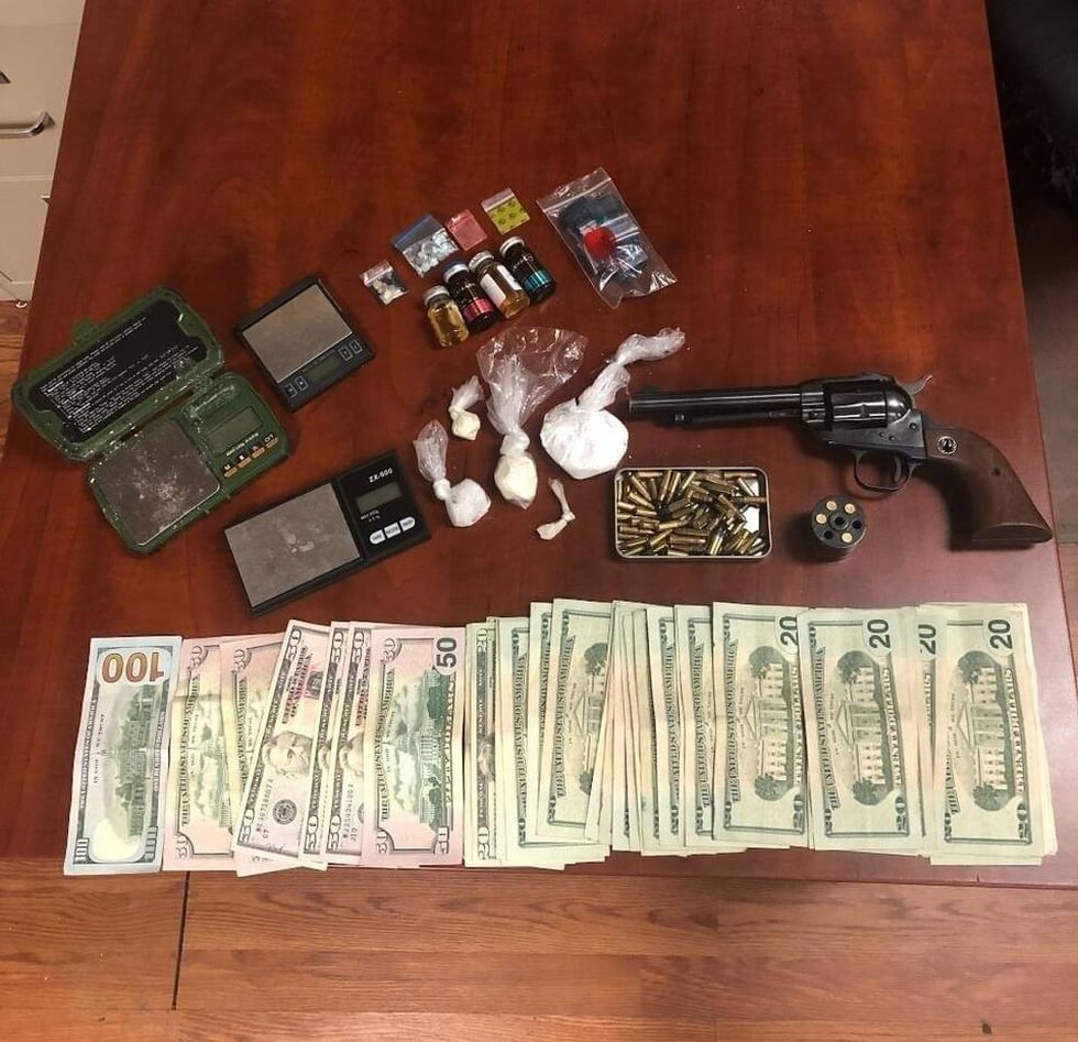 Evidence seized in the arrest of Ryan Perkins in Mingo County, West Virginia.
