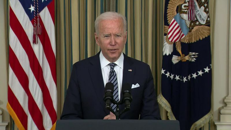 President Biden is laying out his plan to implement the massive $1.9 trillion American Rescue...