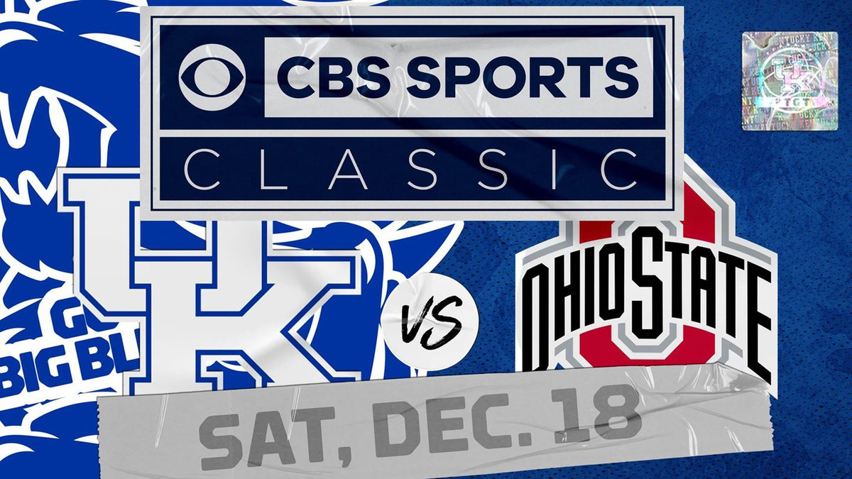UK and Ohio State will play Dec. 18 at T-Mobile Arena in Las Vegas, as part of the CBS Sports...
