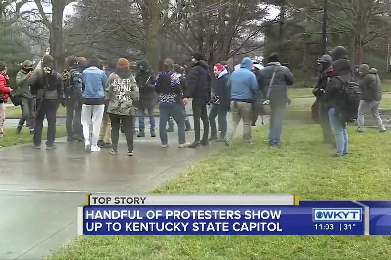 Protests stay small in Frankfort, other state capitals across country
