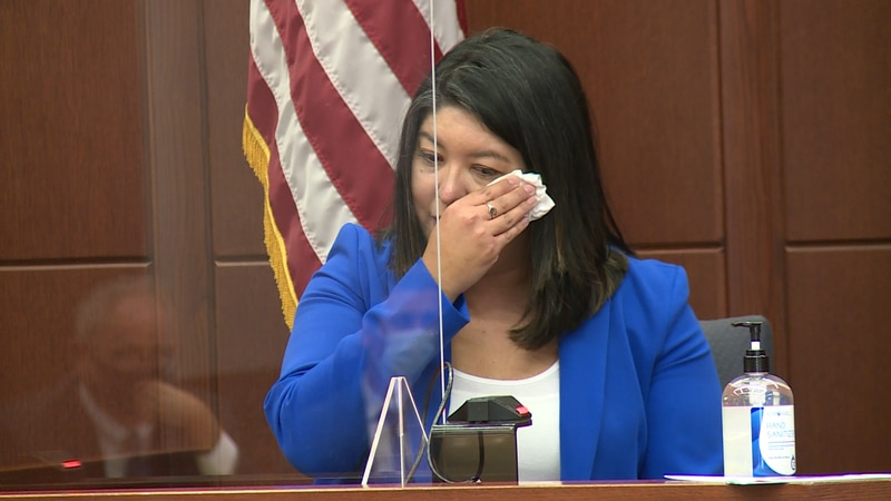 Liz Shemwell, the mother of a little boy killed in a crash, gave emotional testimony in court...