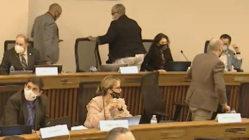 Three members of the Virginia Redistricting Commission walked out Friday afternoon, as a...
