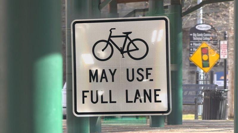 Signs like this will soon be displayed through Pikeville as the city-wide bike plan gets rolling.
