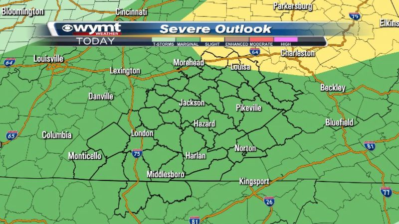 As of 2 a.m. Monday, the Storm Prediction Center has our entire region under a marginal risk (1...