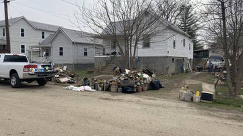 A group of volunteer veterans and first responders are helping in the recovery process after...