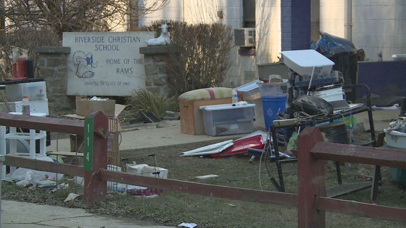 Riverside Christian School was flooded with several feet of water.