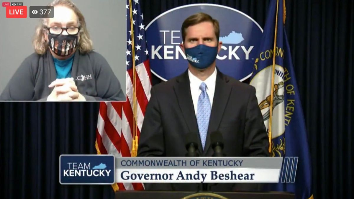 Gov. Andy Beshear gives an update on COVID-19 in the state of Kentucky.