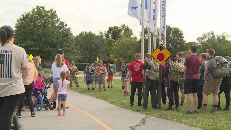 Friends and family shared stories of Padgett prior to the ruck, which was about the length of a...