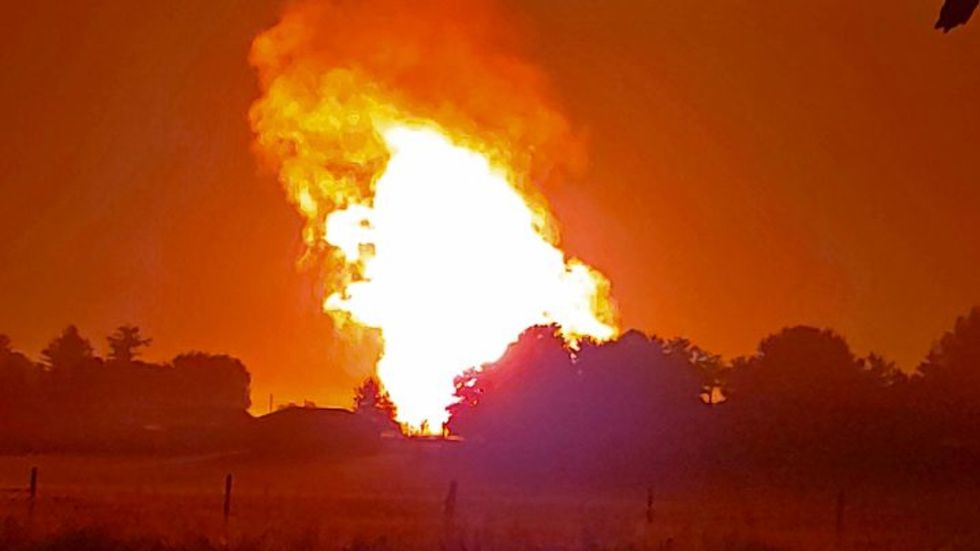 This photo is taken from Ky. 2141 in Moreland. The explotion shook the viewer's house and people in the area could feel the heat. (Naomi Hayes)