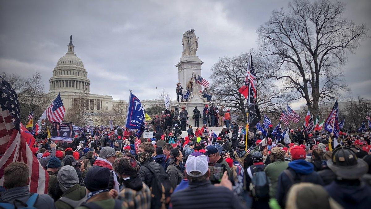 Locals attend Trump protest