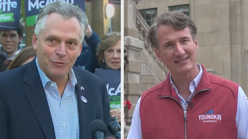 The two men running to be Virginia's next governor are logging a lot of miles around the state,...