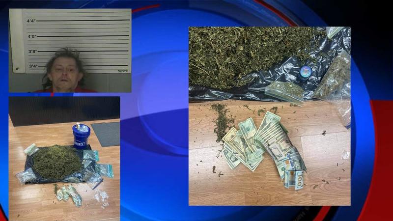 Police said deputies found a large amount of marijuana following Douglas Lewis' arrest.
