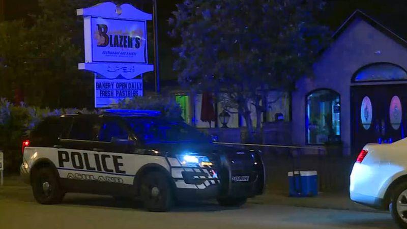 Ashland Police cordoned off a restaurant with crime scene tape Sunday night.