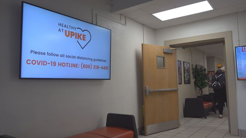 Signs and graphics can be found all around UPIKE as reminders for students, reminding them the...