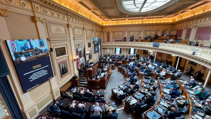 Members of the Virginia House of Delegates approved a plan for more than $4 billion in funding...