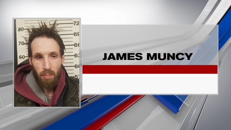 James Muncy, 35, faces numerous charges after investigators say he led them on a pursuit in...
