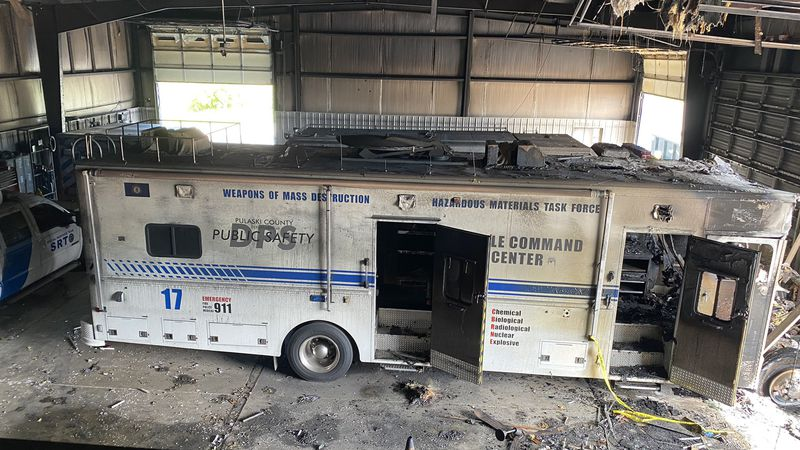 The fire broke out in a communications truck around 5 Monday evening, but the SRT chief says...