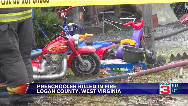 A young boy died Tuesday morning in an apartment building fire in Logan County, West Virginia.