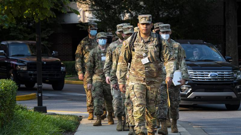 15 members of the Kentucky National Guard Have been deployed to Baptist Health Lexington....