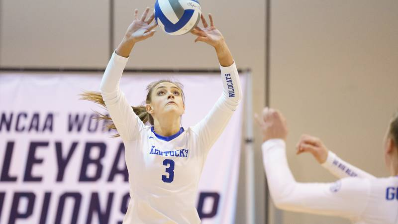 15 APR 2021: UNLV vs. Kentucky during the Division I Women's Volleyball Tournament held at the...