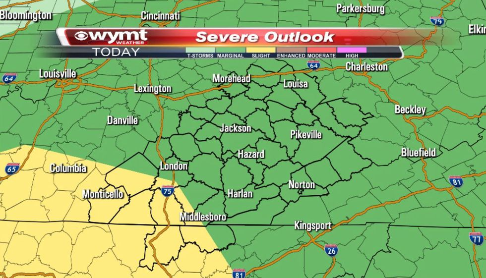 As of 2 a.m. Tuesday, the Storm Prediction Center pulled the slight risk (2 out of 5) way...