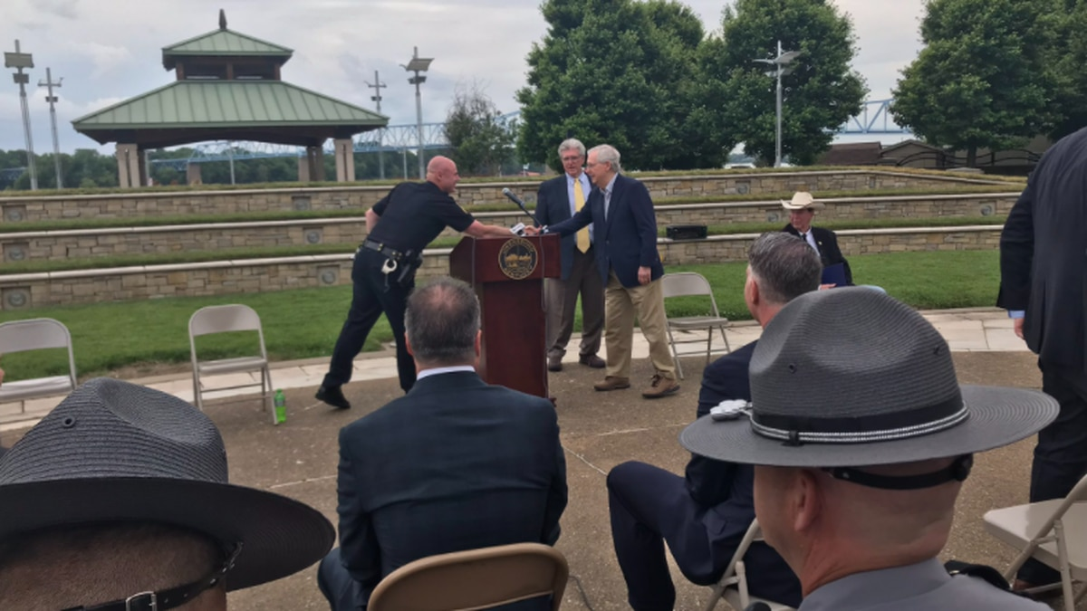 Sen. McConnell in Owensboro Tuesday to discuss an federal anti-drug program.