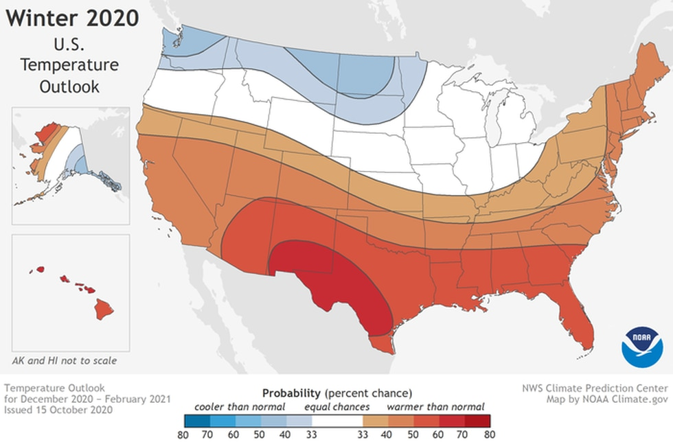 NOAA released its Winter Weather Outlook for 2020-2021