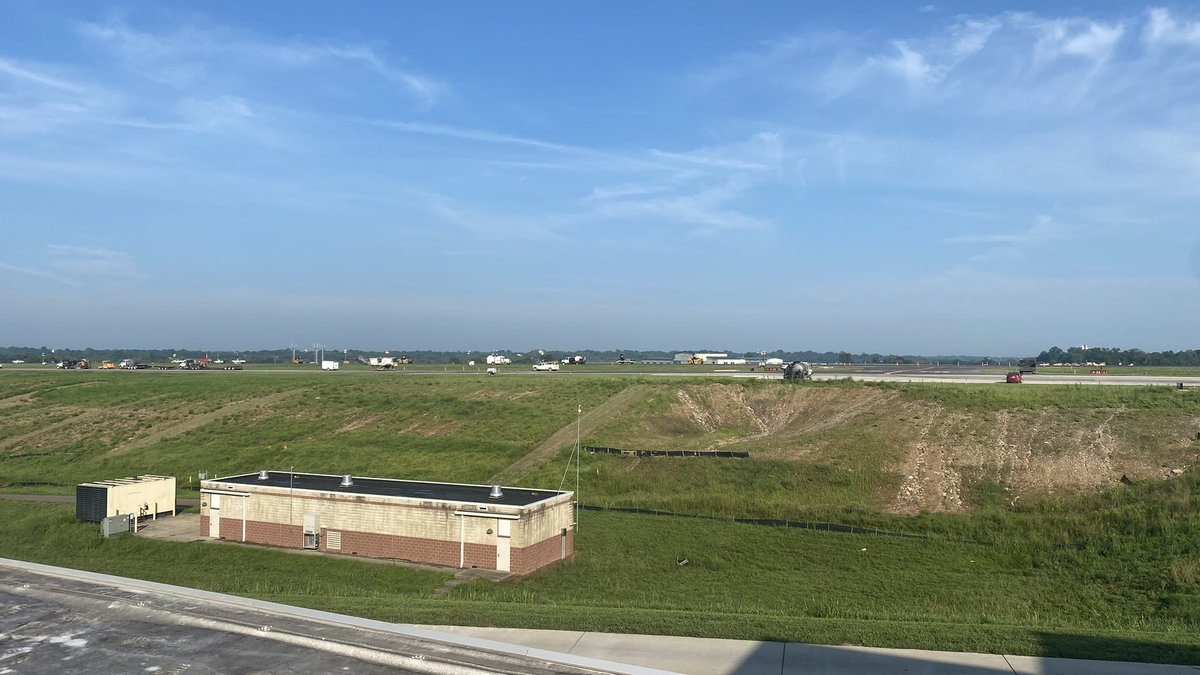 The Blue Grass Airport is set to complete its three day maintenance project on time.