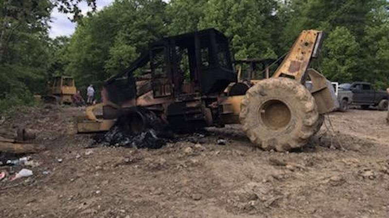 T&R Trucking Inc. owners offering $2,000 reward for information on whoever burned their equipment