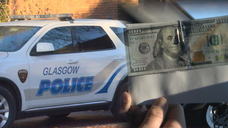 Glasgow Police officers give money instead of tickets on Tuesday (WBKO)