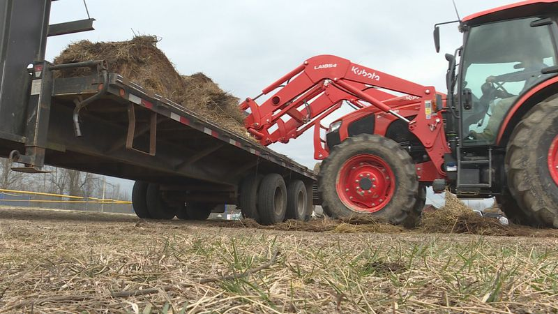 Madison County farmers donating hay to Lee County farmers