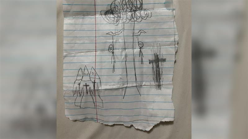 A mother in Whitley County says she's heartbroken after finding this drawing put in her middle...