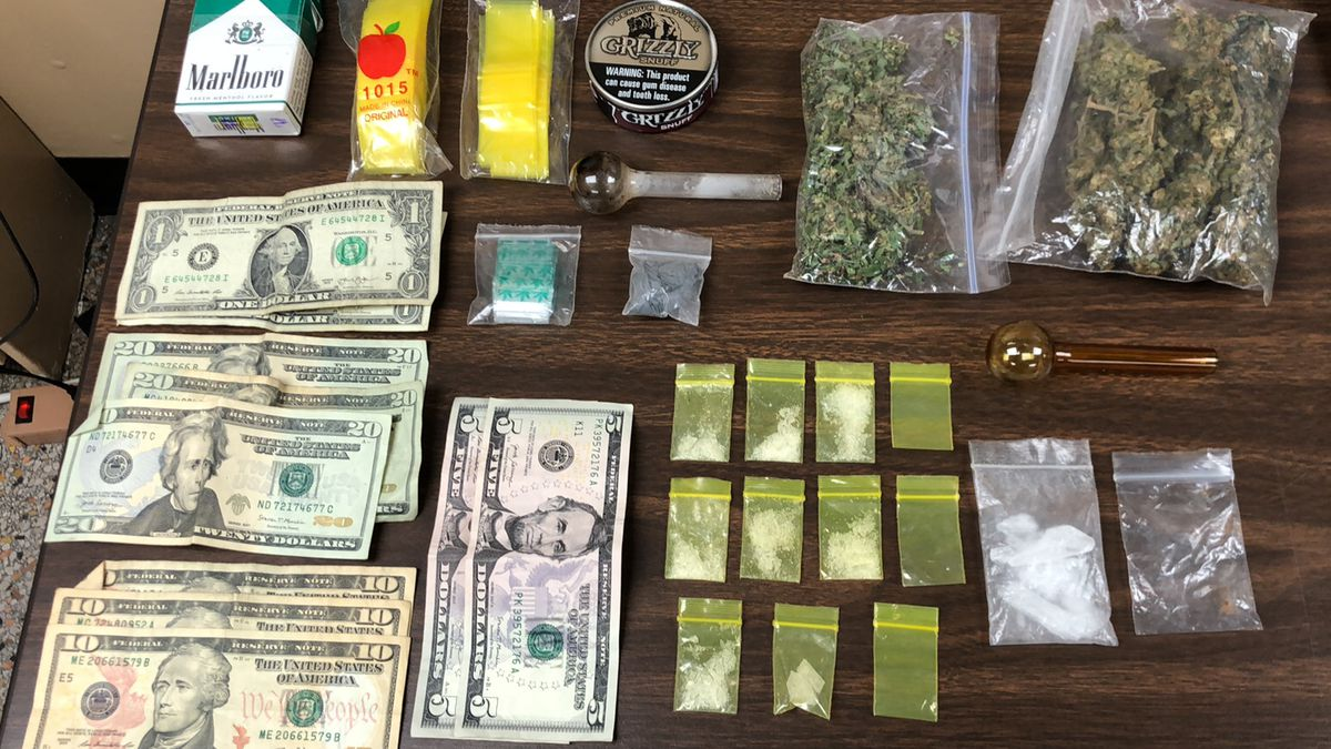Evidence seized by Bell County Sheriff's deputies after six arrests Monday night.