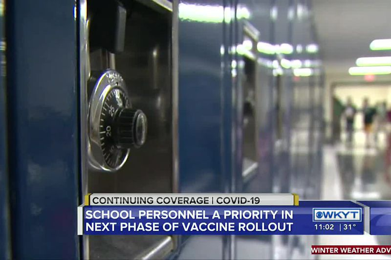 As the vaccine rollout continues across the commonwealth, K-12 teachers and staff are next in...