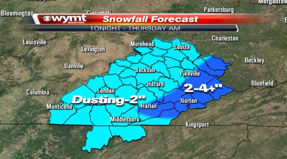 Snowfall forecast 1/27/2021