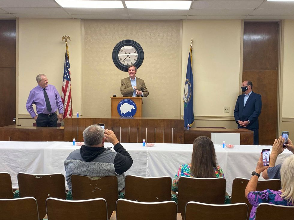 Gov. Andy Beshear made a stop in Jackson on Thursday to discuss the recent disaster declaration...