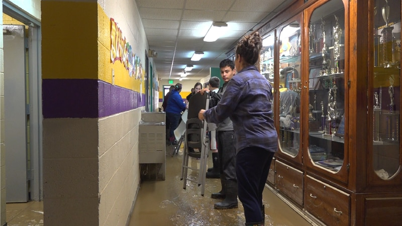 Community comes together for school clean up