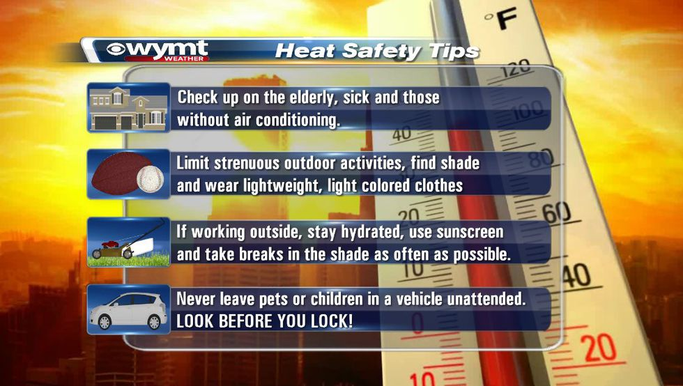 Remember and follow these tips to keep you and your family safe on these hot summer days.