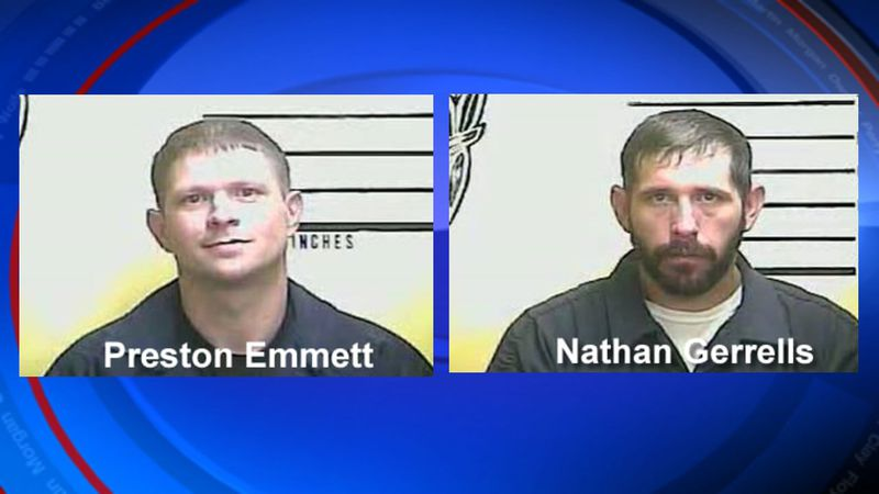 Nathan Gerrells, 35, of Tazewell, Tennessee and Preston Emmett, 35, of Middlesboro, both face...