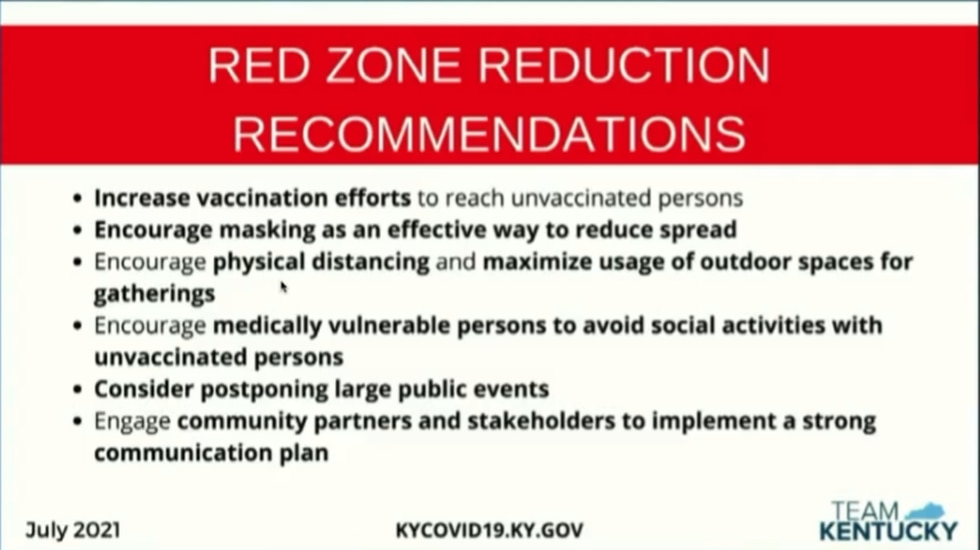 During Thursday's Team Kentucky news conference, Dr. Steven Stack discussed recommendations for...